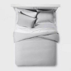 Full Queen Nate Berkus Gray Blend Duvet Cover Set